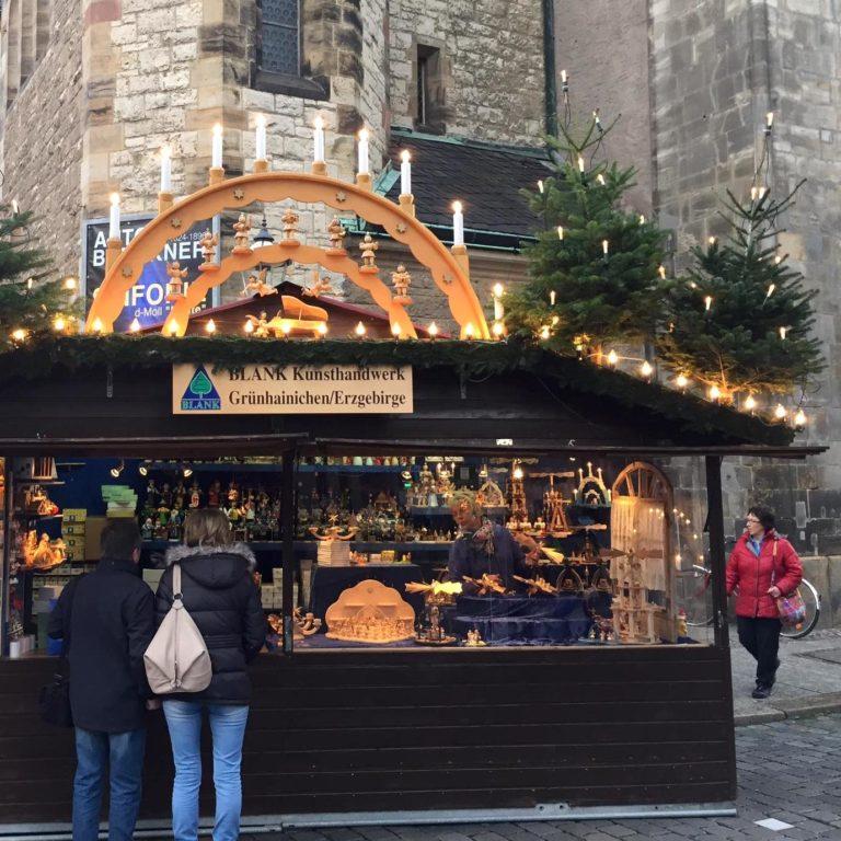 BLANK Stand auf dem Weihnachtsmarkt Leipzig