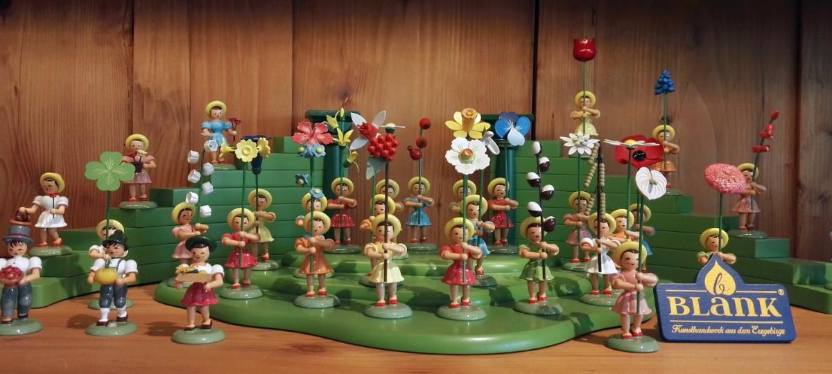 Blumenkinder farbig dekoriert