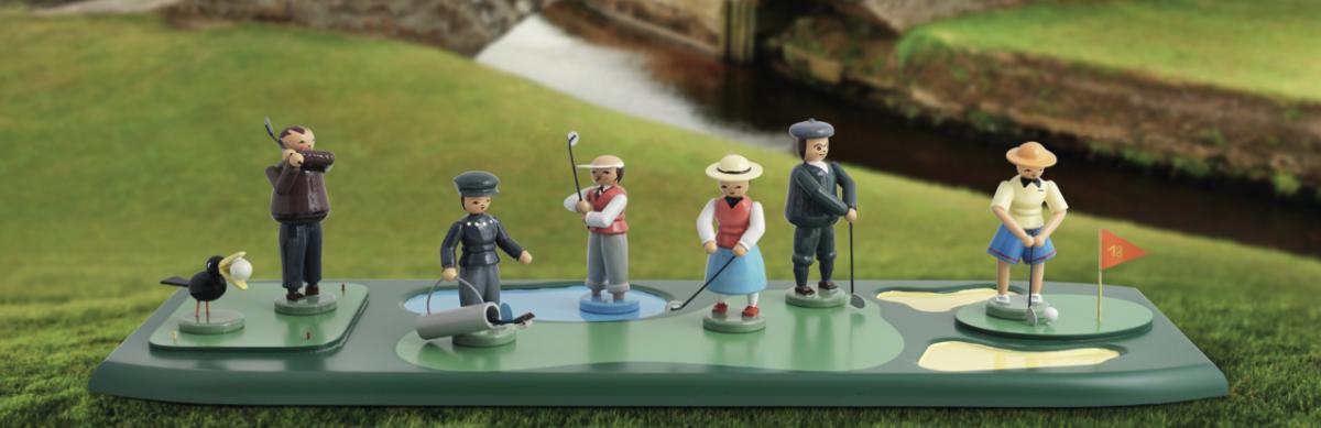 Golfer mit Fairway von BLANK Kunsthandwerk