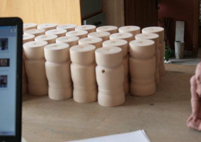 Barfußkönig - Rohkörper im Atelier des Künstlers
