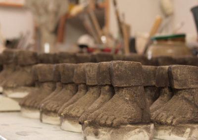 Die Füße des Barfußkönigs.