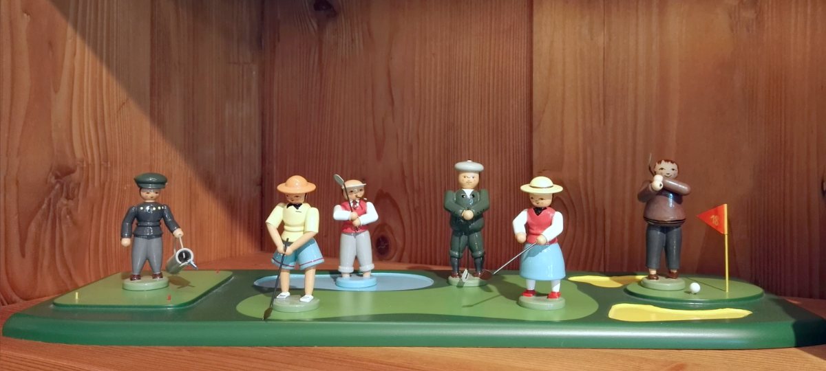 Golfer dekoriert